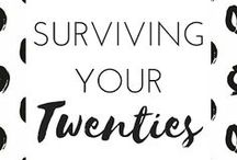 SURVIVING YOUR TWENTIES / Being a 20 something is hard, and no one talks about it. Here you'll find posts on making the most of your twenties, figuring out your next step, and enjoying the journey along the way. twenty something, 20 something, millennial, advice, resources, tips