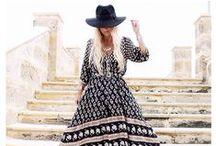 Bohemian boho chic and ethno chic fashion / Bohemian and ethno chic fashion style