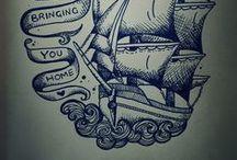 tattoo: wave/ sea themed