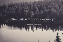 Moments of Gratitude and Inspiration / Thoughts of gratitude and inspiration.