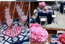 Preppy Chic Inspired Party / Bright and cheery colors are the epitome of Preppy Chic.  The perfect pallette for summer soirees!