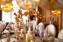 Silver and Gold Luxury / Silver and Gold not only signifies the holidays but adds elegance and sophistication to any event