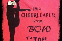Jada's cheer board...