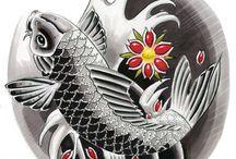 FLASH/ JAPANESSE TATTO / PINTURAS, DIBUJO, ORIENTAL, JAPONES, ARTE,