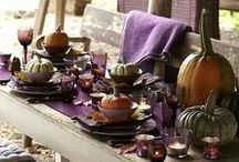 Fall Color Palettes and Tablescapes / Grouping together some untraditional colors for the season will lead to unique and creative tablescapes.  Check out these pairings for Fall.
