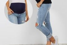 Bottoms / Maternity jeans that will grow with your bump