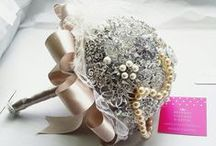 Brooch bouquet / We create Brooch bouquets and also have a passion for seeing them made well. We love  if there is a bouquet you would like us to make