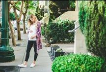 Maternity Street Style / Street chic looks for the modern expecting mother. Maternity clothes are stylish now.