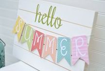Summer Decor / It's summertime! Decorate your home to reflect the season.