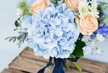 Wedding Moodboard Shades of Blue