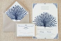 Trouwkaarten ♥ BLAUW / Trouwkaart ontwerpen met blauw als accent kleur.