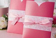 Trouwkaarten ♥ ROZE / Trouwkaart ontwerpen met roze als accent kleur.