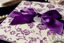 Trouwkaarten ♥ PAARS / Trouwkaart ontwerpen met paars als accent kleur.