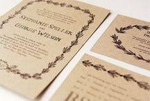 Trouwkaarten ♥ BRUIN & WIT / Trouwkaart ontwerpen met bruine en witte tinten als accent kleur.