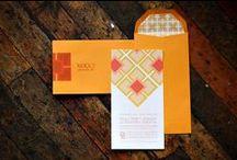Trouwkaarten ♥ ORANJE / Trouwkaart ontwerpen met oranje als accent kleur.