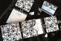 Trouwkaarten ♥ ZWART / Trouwkaart ontwerpen met zwart als accent kleur.