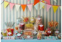 Ideas: DIY Candy Buffet / Manageable ideas for creating a fabulous candy buffet in-house.