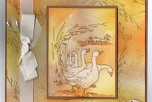 Follow Me, Sheep in the Meadow and Gaggle of Geese / These are the new Foam Mounted stamps from Hobby Art / by Hobby Art