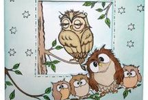 Owls / This is the brand new set Owls from Hobby Art designed by Sharon Bennett as seen on Create & Craft / by Hobby Art Stamps