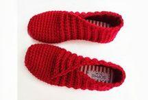 háčkovaná pantofle