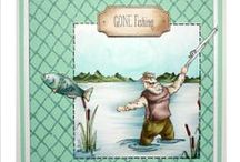 Gone Fishing / This is the Brand new set from Hobby Art CS070D Gone Fishing from the Sharon Bennett Collection / by Hobby Art Stamps