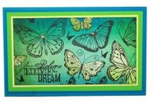 Butterflies / This is the Brand New set designed by Sharon Bennett for Hobby Art. As seen on Create & Craft / by Hobby Art Stamps