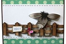 Dudley the Donkey / This is the gorgeous new Lovable Dudley the Donkey set designed by Sharon Bennett for Hobby Art. Clear set contains 15 stamps. Overall size of set - 100mm x 260mm approx. All our clear stamps are made with photopolymer resin. As seen on Create & Craft / by Hobby Art Stamps