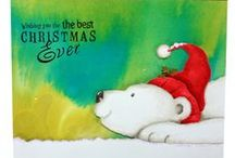 Peter the Polar Bear / This is the gorgeous new Peter the Polar Bear set designed from Hobby Art. Clear set contains 5 stamps. Overall size of set - 74mm x 105mm approx. As seen on Create & Craft / by Hobby Art Stamps