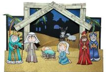 Nativity / This is the gorgeous new 'Nativity' set designed by Sharon Bennett for Hobby Art. This cute set contains 11 stamps. Overall size of set - 100mm x 260mm approx. All our clear stamps are made with photopolymer resin. As seen on Create & Craft / by Hobby Art Stamps