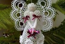 Chrochet angels & Snowflakes