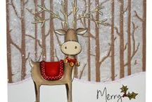 Rufus the Reindeer / This is the gorgeous new Rufus the Reindeer set from Hobby Art. Clear set contains 15 stamps. Overall size of set - 100mm x 260mm approx. All our clear stamps are made with photopolymer resin. / by Hobby Art Stamps