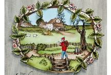 Country Ramble / CS123D 'Country Ramble' Clear set contains 11 stamps. Overall size of set - 100mm x 260mm approx. All our clear stamps are made with photopolymer resin. Designed by Sharon Bennett for Hobby Art Stamps. / by Hobby Art Stamps