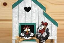 Funky Chicken / CS132D 'Funky Chicken' Clear set contains 11 stamps. Designed by Sharon Bennett for Hobby Art. Overall size of set - 100mm x 260mm approx. All our clear stamps are made with photopolymer resin. / by Hobby Art Stamps