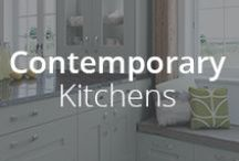Contemporary Kitchens / Strong, simple shaker designs feature in our Contemporary Kitchen collection. Available in an amazing selection of colours, stains and finishes, these ranges have great versatility.