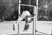 MONKEY BARS / Hanging from bars is good for shoulder stability, shoulder strength and creates a natural distraction for improved shoulder mobility. You can also do many whole body exercises..