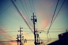写真 電柱 電線