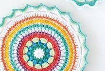 Crochet Mandala's / Special mandala's in gorgeous colors.