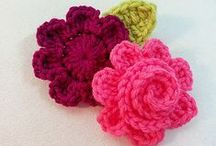 Crochet flowers and leafs / Making your own pretty flowers.