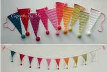 Crochet Garlands / Garlands for birthdays, parties  and special occations.