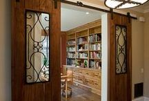"""Sliding Barn Doors / So many times we have heard from buyers """"This house won't work for us because there is no door to the ensuite"""".  Now there is a quick, attractive way to put up a door in any small space!"""
