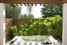 •outdoor spa•