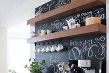 - -chalkboard wall- -