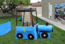 Party Themes: Thomas the Train Party / Thomas the Tank Engine party ideas & decorating - Cardboard is my friend!!