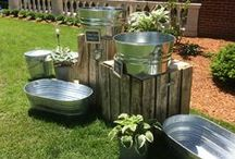 Galvanised tubs and buckets / Create a rustic feel to any event