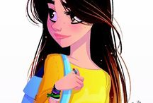 Draw People Disney Style / Inspiration for those who want to know how to draw people