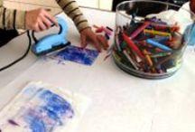Encaustic Art 1 / Intuïtieve schilderijen gemaakt met een warmtebron en was.