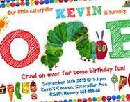 Very Hungry Caterpillar Birthday Invitation & Printable Party Decoration Idea