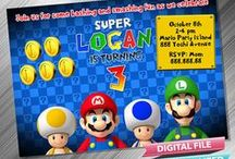 Super Mario Birthday Invitation and Party Printable Idea