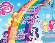 My Little Pony Birthday Invitation & Printable Party Decoration Idea