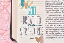 BIBLE ART JOURNALING / Art Journaling in a wide margin bible prayfully, thoughtfully can bring selected scripture to life and help you remember them and use your creativity.
